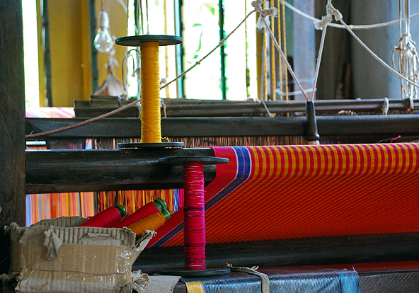 A loom at the handloom house