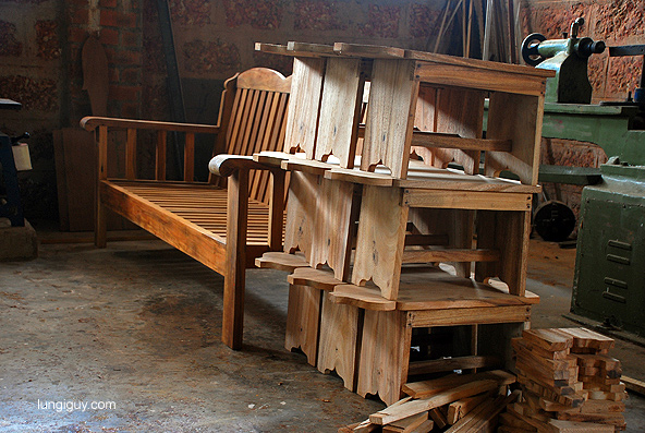 The carpenter's creations