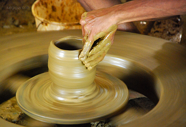 The potter's hands doing some magic!