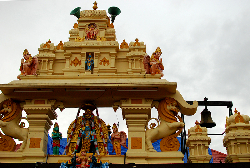 The new facade at Udupi Sri Krishna temple