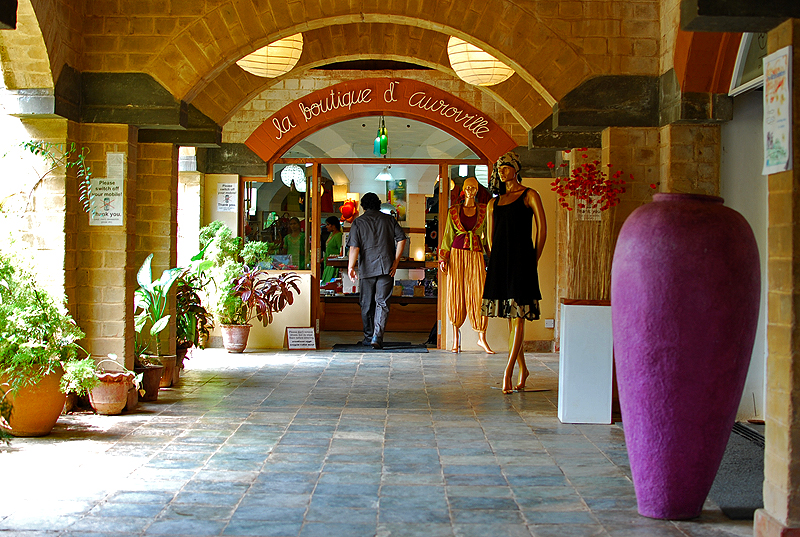 The boutique at Auroville. Yep, check your wallet before you enter.