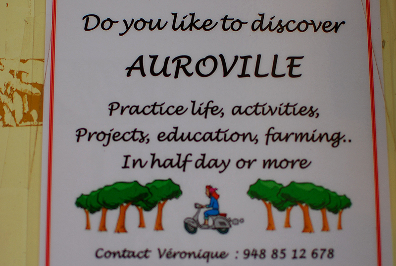 From a notice board in Auroville. I've no idea who Veronique is, but if you want to find out.