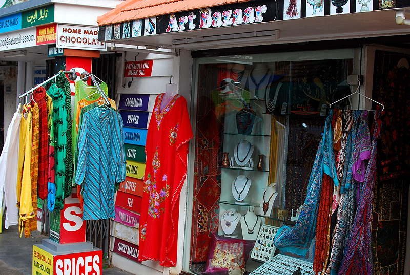 Small, colourful shops