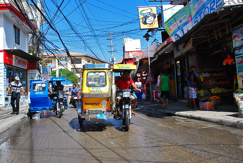 Tricycles - the most popular mode of transport in Philippines