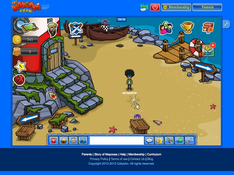 My avatar inside the educational Virtual World ('Mapoosa') I'd conceived and developed while at Callystro.