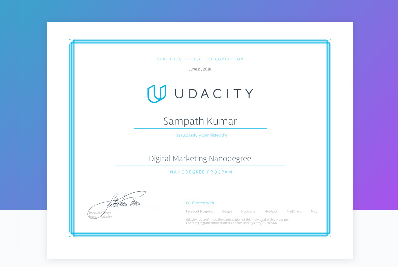 Notes on Certifications: Udacity, Symbiosis